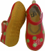 Cherry with Lime Polka Dots Large Mary Jane