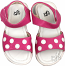 Hot Pink with White Polka Dots Girls Sandal